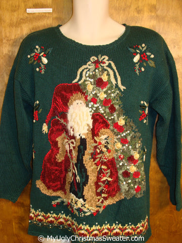 Horrible 80s Santa Ugly Christmas Sweater Pullover