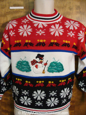 Classic 80s Fun Ugly Christmas Sweater Pullover