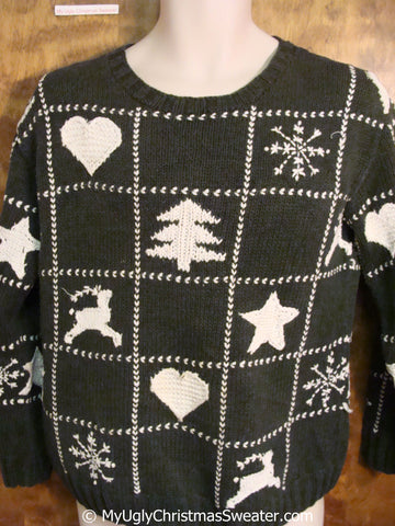 Classic Green 2sided Ugly Christmas Sweater Pullover