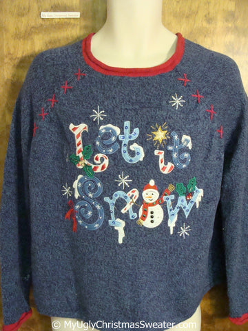 LET IT SNOW Ugly Christmas Sweater Pullover