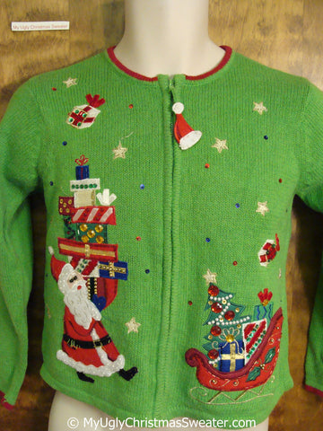 Child Size Green Fun Ugly Christmas Sweater