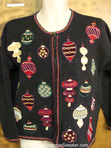Horrible Ornament Themed Ugly Christmas Sweater
