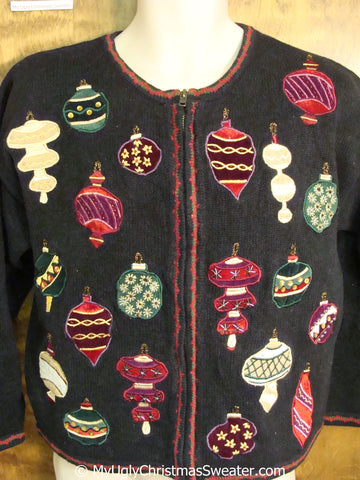 Horrible Ornaments 80s Ugly Christmas Sweater