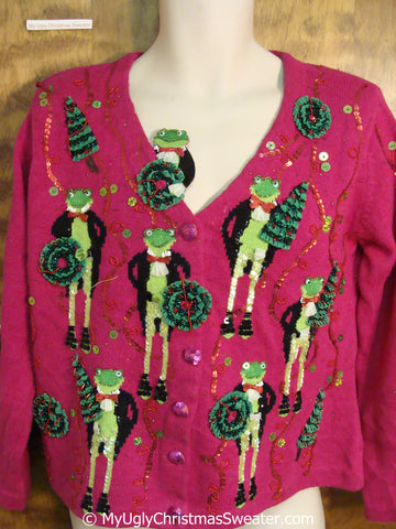 Best Frogs in Tuxedos Ugly Christmas Sweater