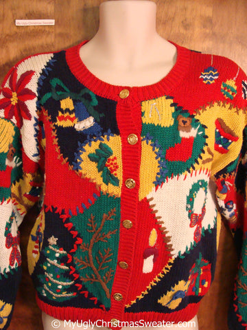 Best of the Best 80s 2sided Tacky Christmas Sweater