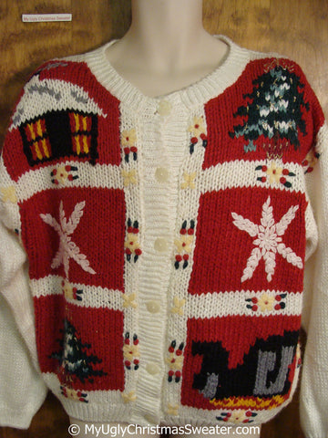 Tacky Christmas Sweater with 80s Charm