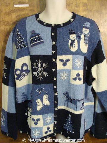 2sided Big Size 4XL Tacky Christmas Sweater