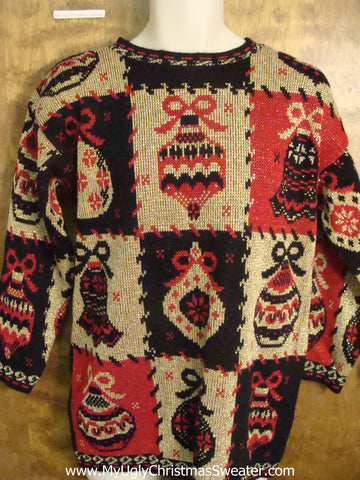 Horrible 80s 2sided Christmas Sweater