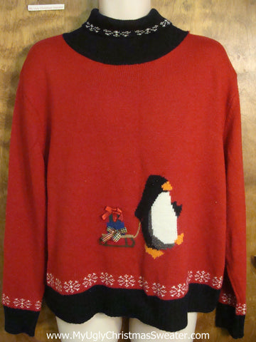 Tacky Penguin Christmas Sweater