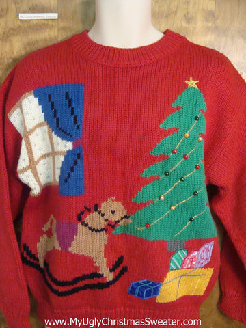 Best 80s Red Christmas Sweater