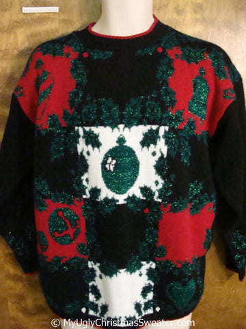 Christmas Sweater 80s with Acrylic Knit