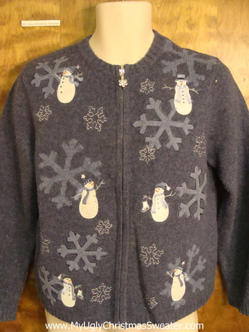Snowman Six Pack Christmas Sweater