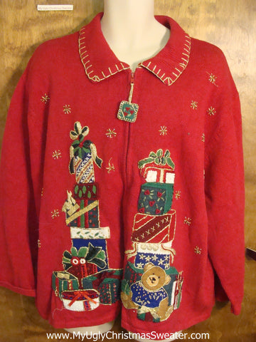 Big Size Red Christmas Sweater