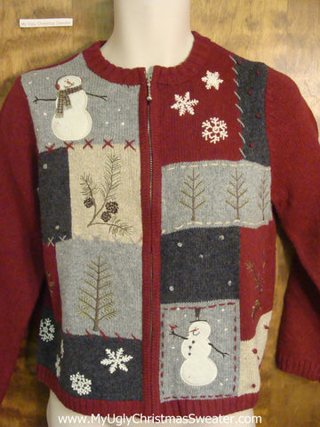 Crafty Patchwork Christmas Sweater