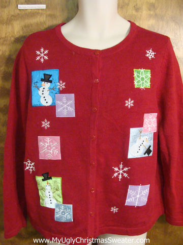 Dancing Snowman Ugly Xmas Sweater