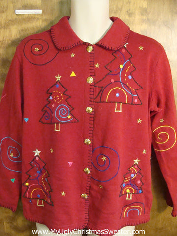 Colorful Christmas Tree Ugly Xmas Sweater