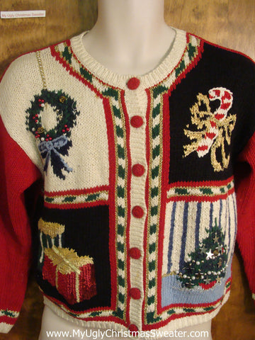 Festive Holiday Decorations Ugly Xmas Sweater