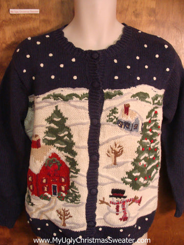 Snowy Village Ugly Xmas Sweater