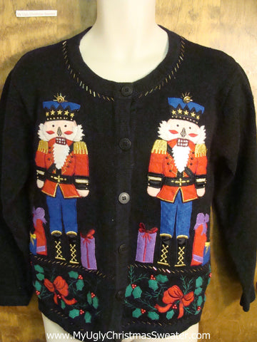 Festive Nutcrackers Ugly Xmas Sweater