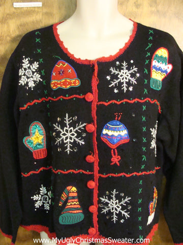 Playing in the Snow Festive Ugly Christmas Sweater