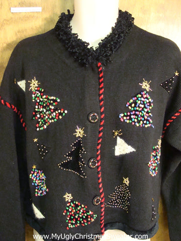 Bling 80s Christmas Tree Festive Ugly Christmas Sweater