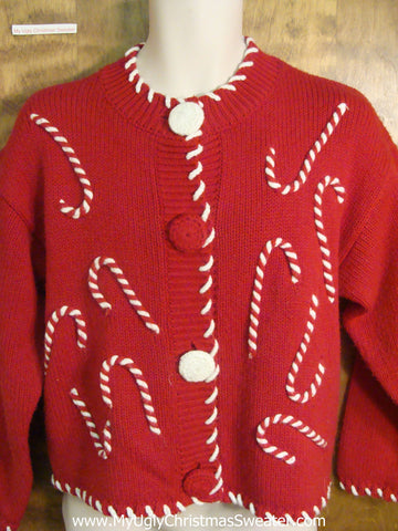 Crazy Candycane Festive Ugly Christmas Sweater