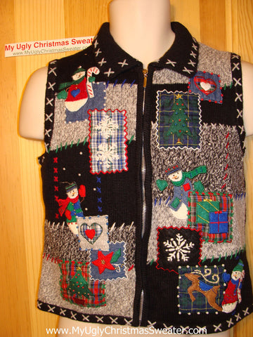 Tacky Ugly Christmas Sweater Vest  (f54)
