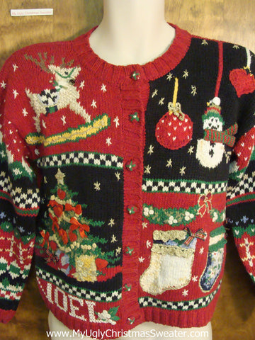 80s Christmas Decorations Funny Ugly Sweater for a Christmas Party