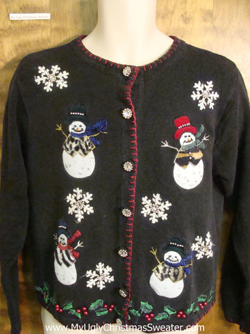 Happy Snowmen Funny Ugly Sweater for a Christmas Party