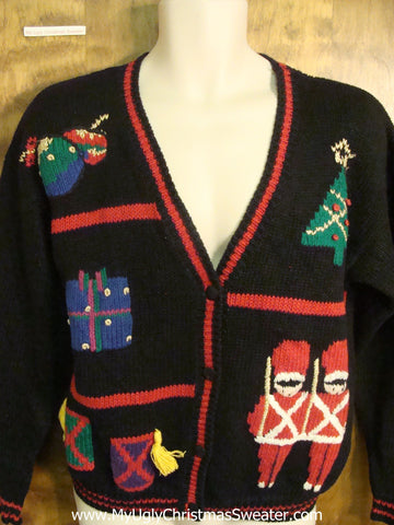 80s Christmas Present Funny Ugly Sweater for a Christmas Party