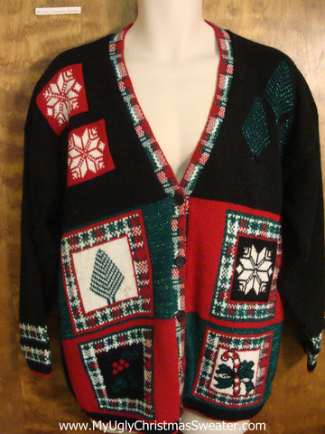 80s Plaid Funny Ugly Sweater for a Christmas Party