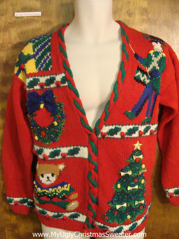 Festive Holiday Decorations Funny Ugly Sweater for a Christmas Party