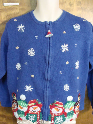 Funny Blue Ugly Sweater for a Christmas Party