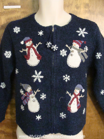 Playful Snowmen Funny Ugly Sweater for a Christmas Party