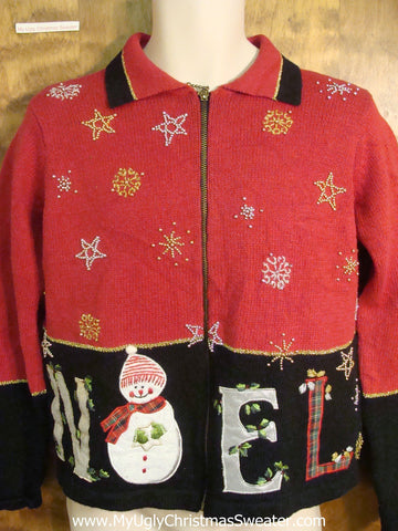 Noel Funny Ugly Sweater for a Christmas Party