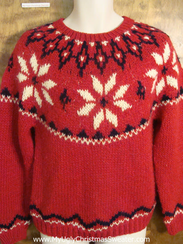 Nordic Snowflake Funny Ugly Sweater for a Christmas Party