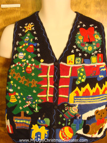 Christmas Eve Funny Ugly Sweater Vest for a Christmas Party