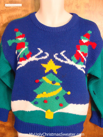 Ski Jumpers Funny Ugly Sweater for a Christmas Party