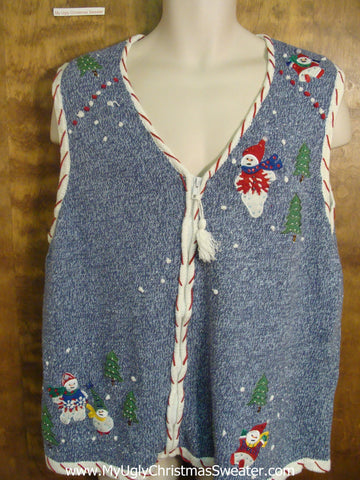Funny Ugly Sweater Vest for a Christmas Party