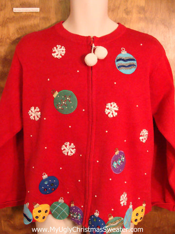 Colorful Ornaments Ugly Sweater for Xmas