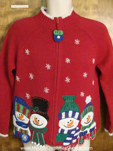Corny Snowman Family Ugly Sweater for Xmas