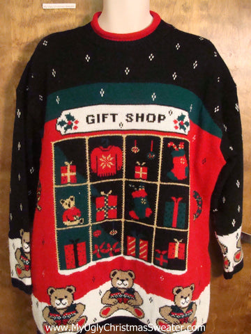 80s Gift Shop Theme Ugly Sweater for Xmas