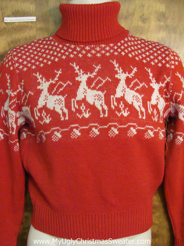 Reindeer Nordic Patterned Ugly Sweater for Xmas