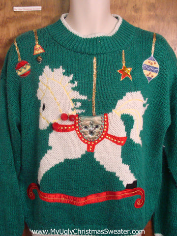 Rocking Horse Ugly Sweater for Xmas