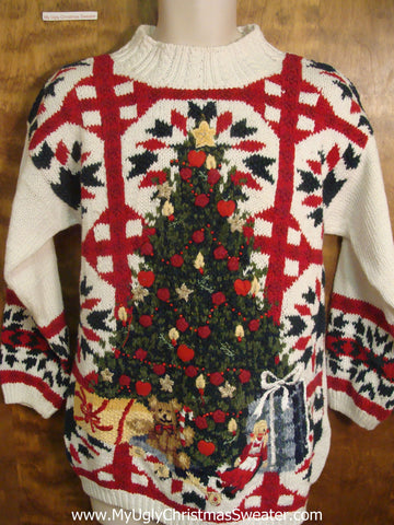 Ornate Christmas Tree Ugly Sweater for Xmas