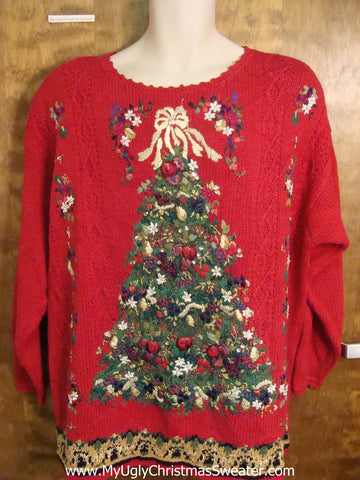 Elaborate Tree Ugly Sweater for Xmas