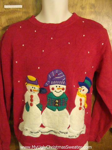Snowman Friends Ugly Sweater for Xmas