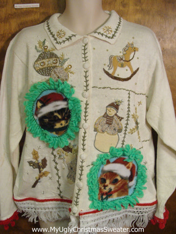 Tacky Cat Ugly Christmas Sweater