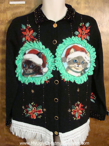 Cat Lover Ugly Christmas Sweater