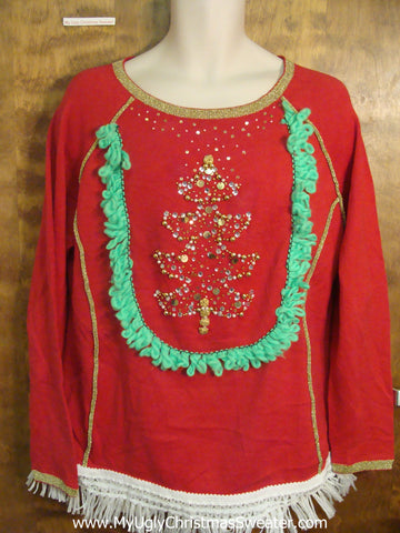 Bling Xmas Tree Ugly Christmas Sweater